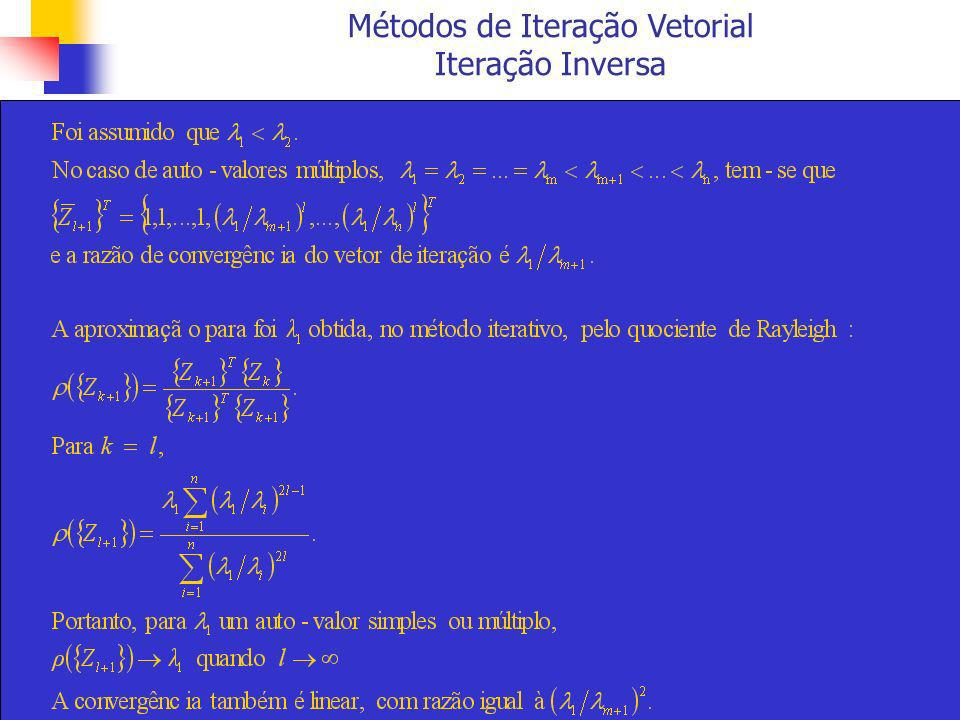 Métodos de Transformação Método de Jacobi coluna p coluna q linha q linha p