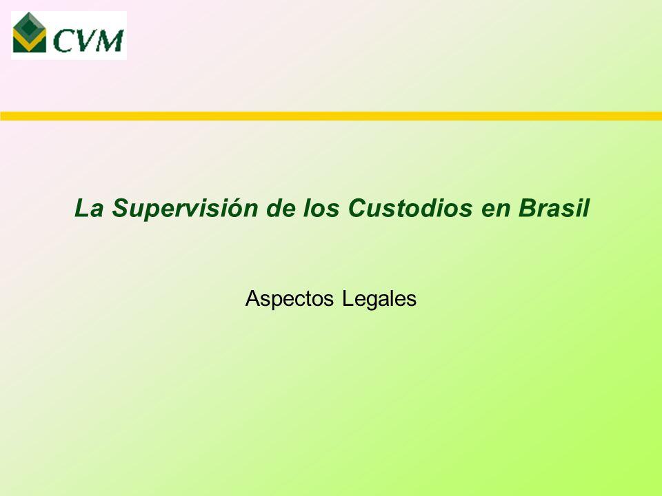 La Supervisión de los Custodios en Brasil Aspectos Legales