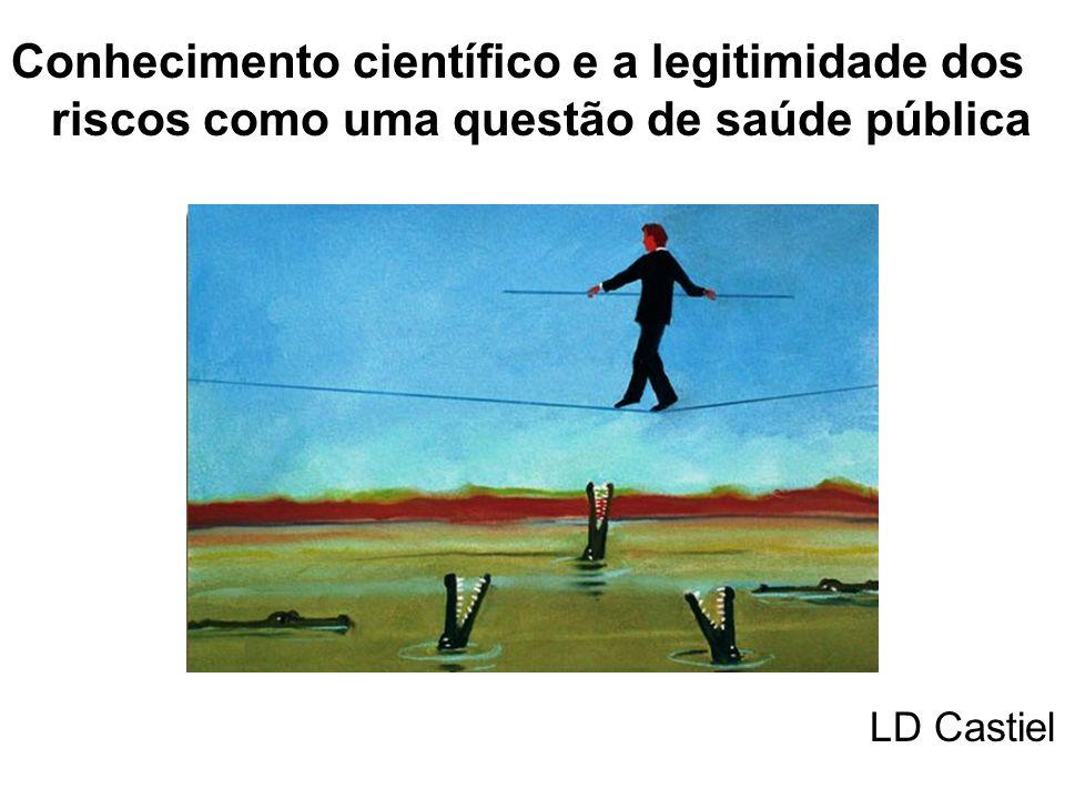 Conhecimento científico e a legitimidade dos riscos como uma questão de saúde pública LD Castiel