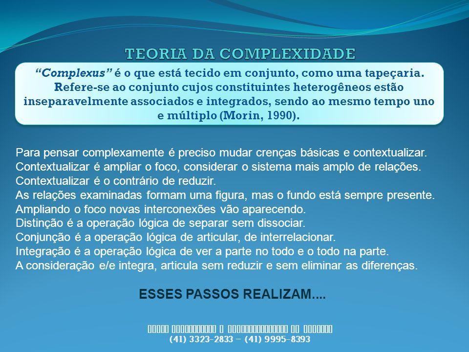 PUCCI Consultoria e Desenvolvimento de Pessoas (41) 3323-2833 – (41) 9995-8393 Complexus é o que está tecido em conjunto, como uma tapeçaria. Refere-s