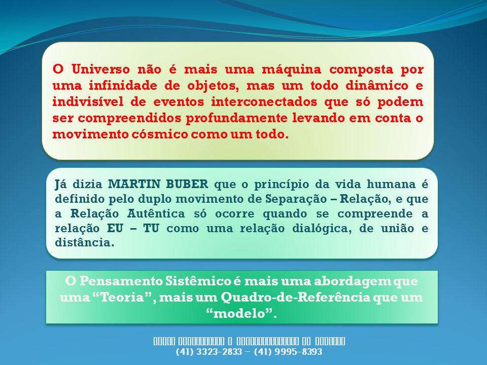 PUCCI Consultoria e Desenvolvimento de Pessoas (41) 3323-2833 – (41) 9995-8393 O Universo não é mais uma máquina composta por uma infinidade de objeto