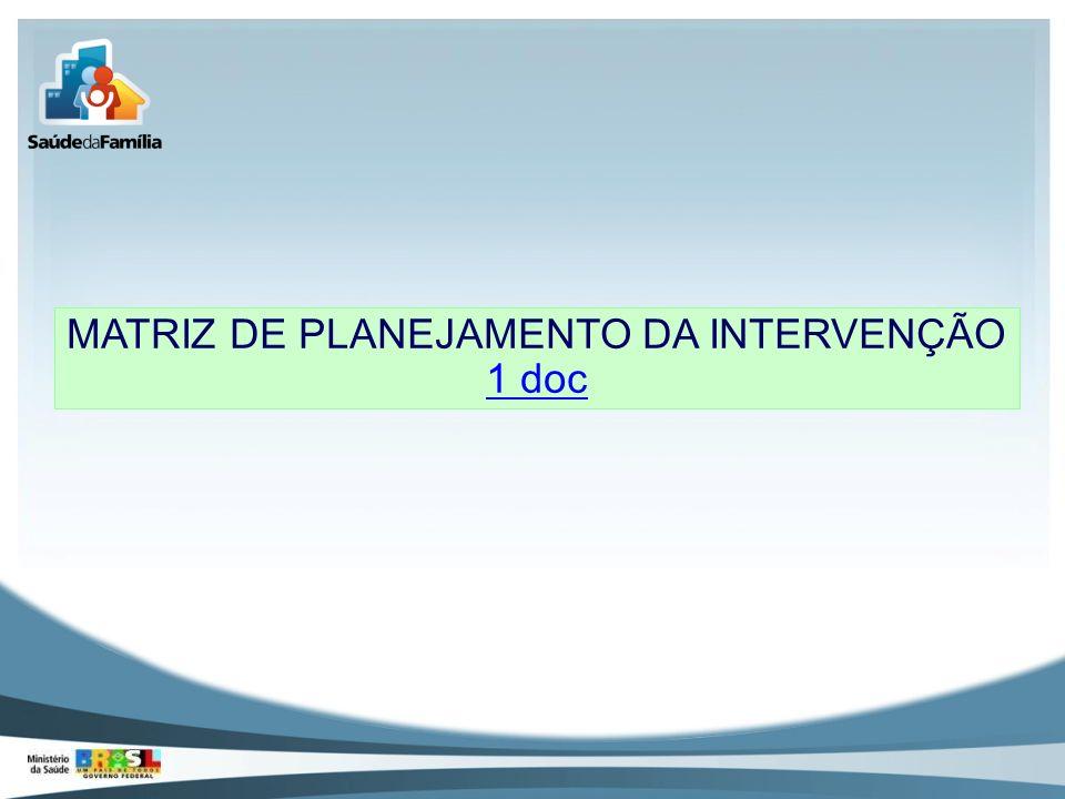MATRIZ DE PLANEJAMENTO DA INTERVENÇÃO 1 doc 1 doc