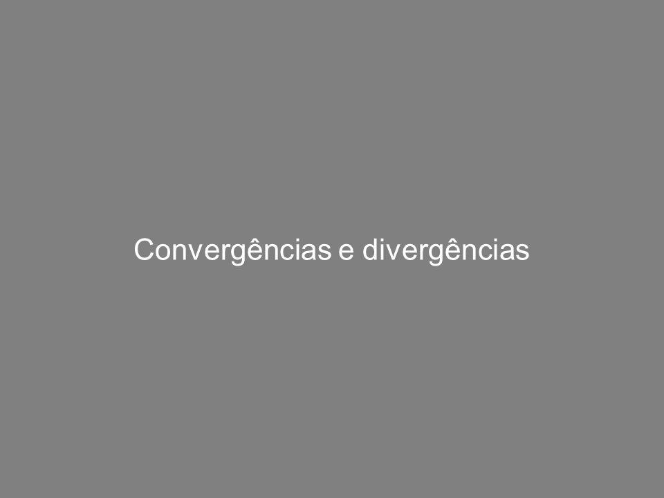 Convergências e divergências
