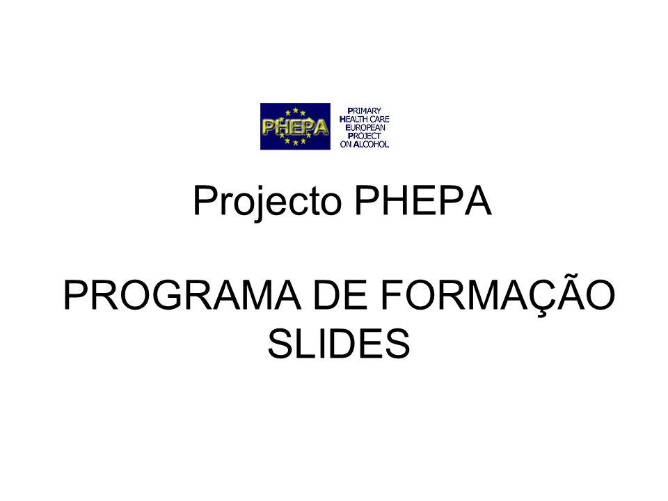 PROGRAMA DE FORMAÇÃO SLIDES Projecto PHEPA