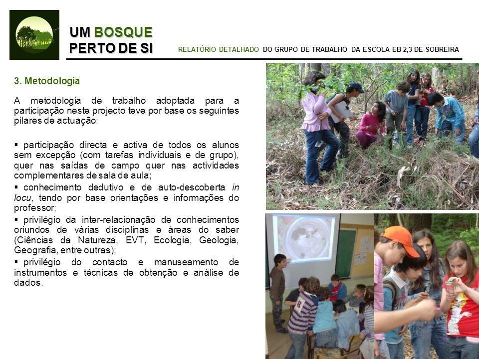 UM BOSQUE PERTO DE SI RELATÓRIO DETALHADO DO GRUPO DE TRABALHO DA ESCOLA EB 2,3 DE SOBREIRA 5.