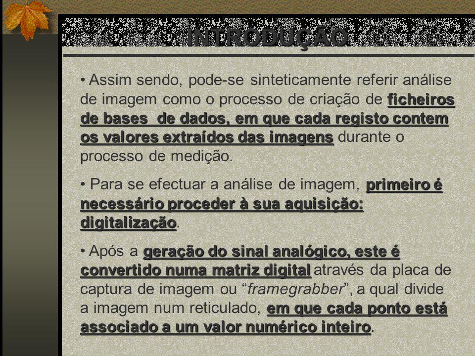 ESTATÍSTICAS DE 2ª ORDEM O desenvolvimento do método SGLDM passa por três estádios bem definidos: 1.Aquisição e digitalização da imagem.