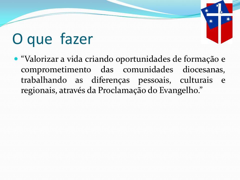 Como fazer Desenvolver um processo de missão e evangelização em comunhão fraterna com os irmãos, na construção de uma sociedade justa e humanitária, priorizando: a) a formação ; b) a identidade Anglicana; c) a responsabilidade cristã; d) o compromisso transformador;