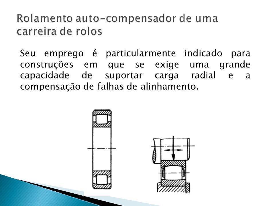 Seu emprego é particularmente indicado para construções em que se exige uma grande capacidade de suportar carga radial e a compensação de falhas de al