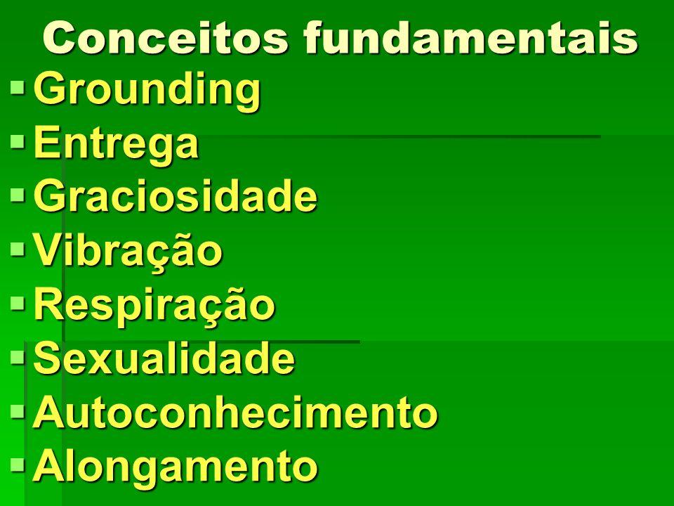 Conceitos fundamentais Grounding Grounding Entrega Entrega Graciosidade Graciosidade Vibração Vibração Respiração Respiração Sexualidade Sexualidade A