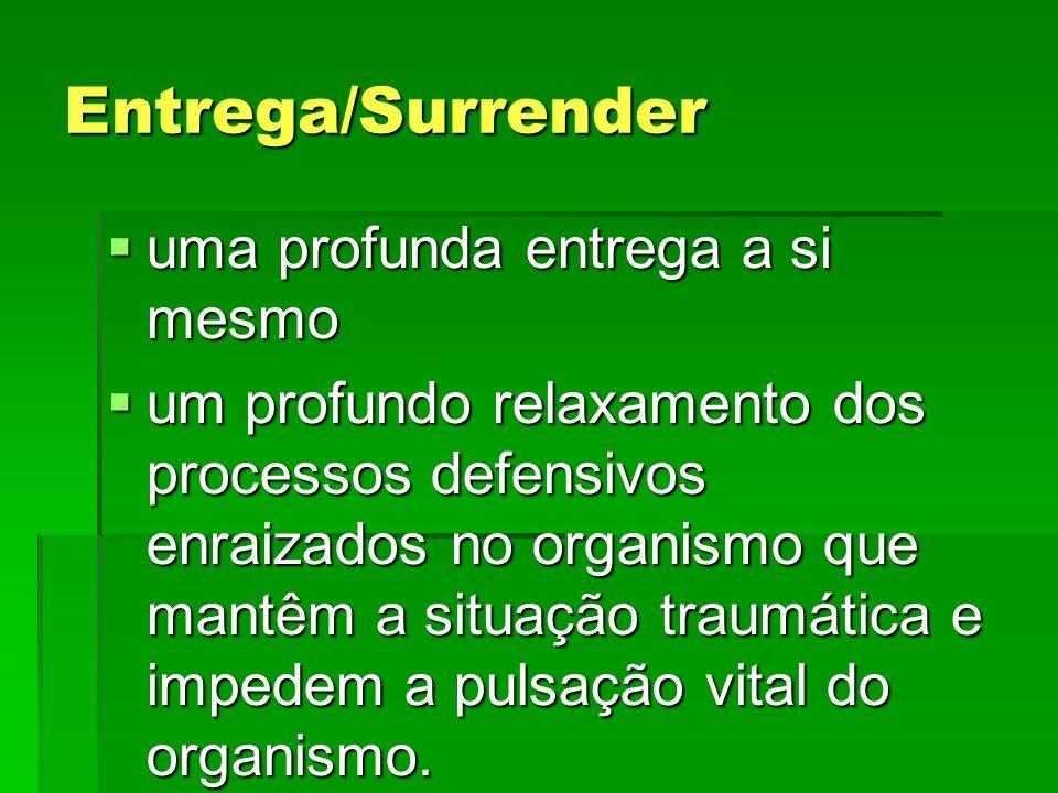 Entrega/Surrender uma profunda entrega a si mesmo uma profunda entrega a si mesmo um profundo relaxamento dos processos defensivos enraizados no organ