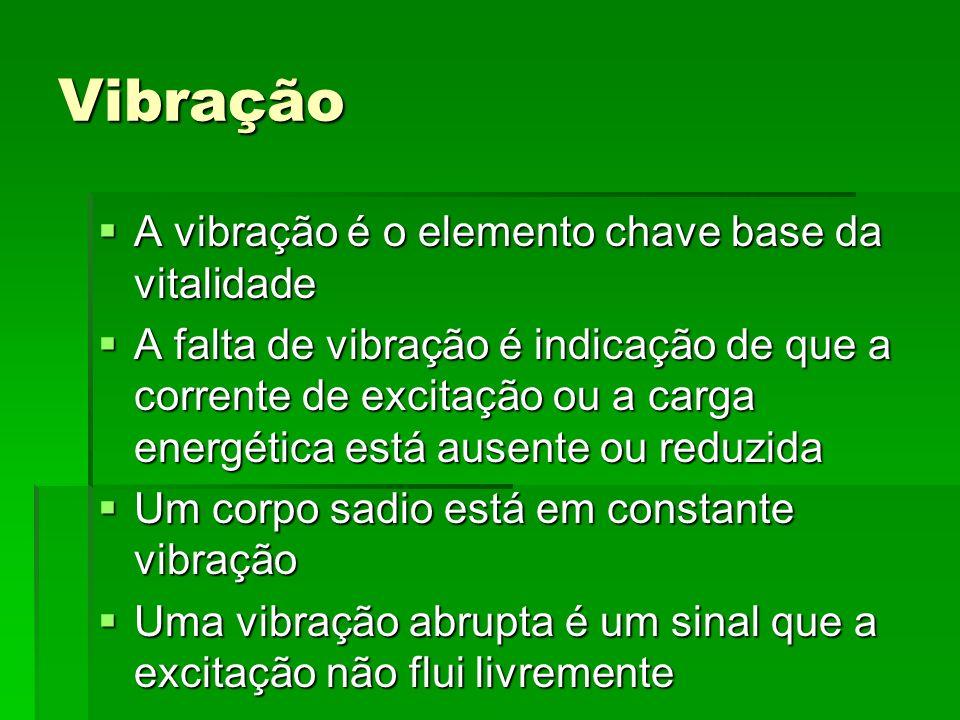 Vibração A vibração é o elemento chave base da vitalidade A vibração é o elemento chave base da vitalidade A falta de vibração é indicação de que a co