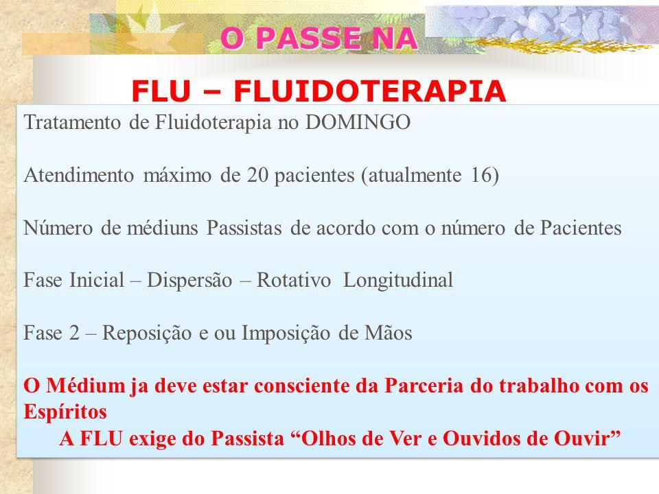 O PASSE NA FLU - FLUIDOTERAPIA