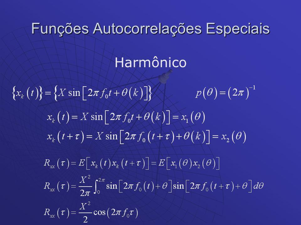Funções Autocorrelações Especiais Harmônico