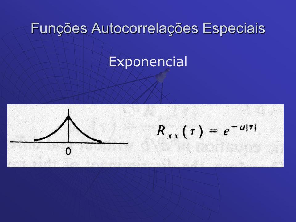 Funções Autocorrelações Especiais Exponencial