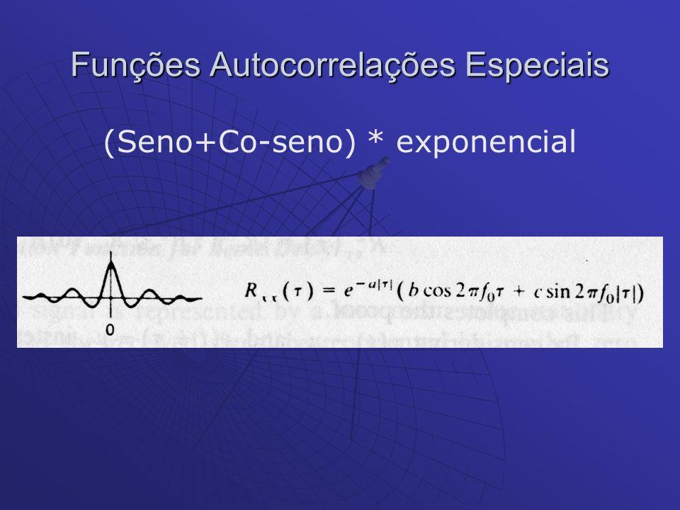 Funções Autocorrelações Especiais (Seno+Co-seno) * exponencial