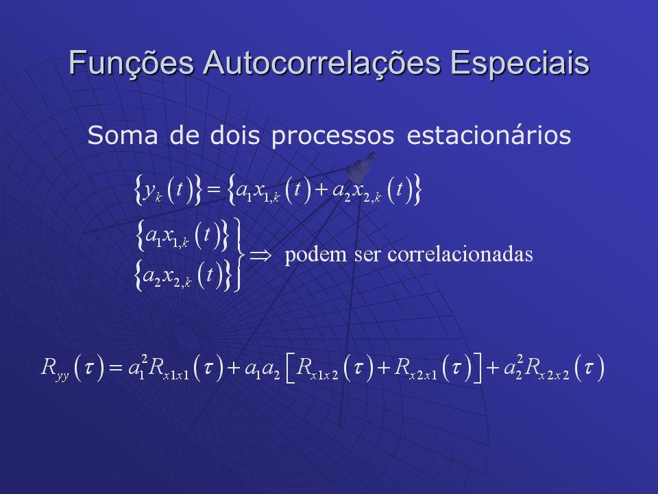 Soma de dois processos estacionários Funções Autocorrelações Especiais