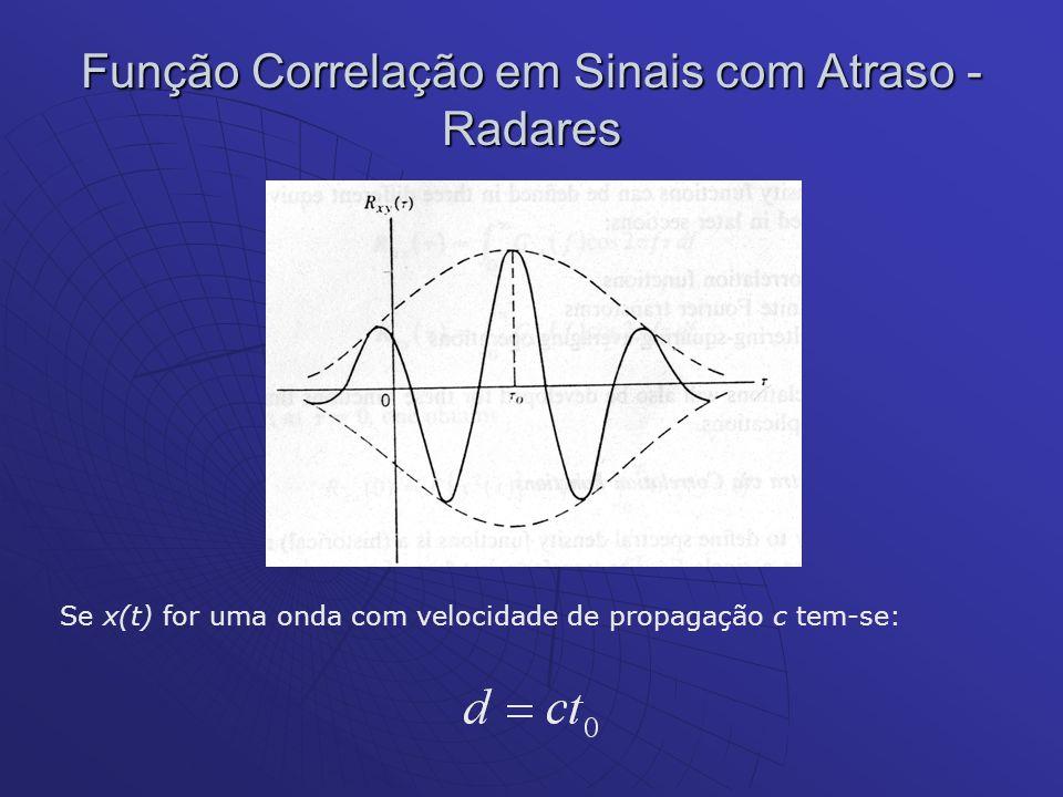 Se x(t) for uma onda com velocidade de propagação c tem-se: