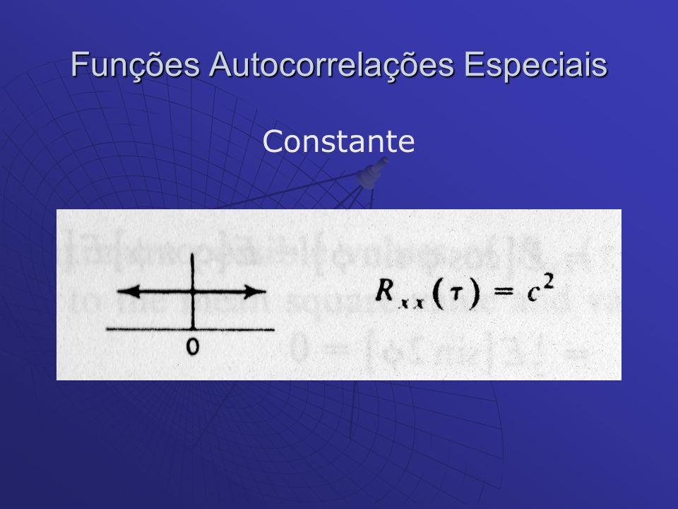 Funções Autocorrelações Especiais Constante