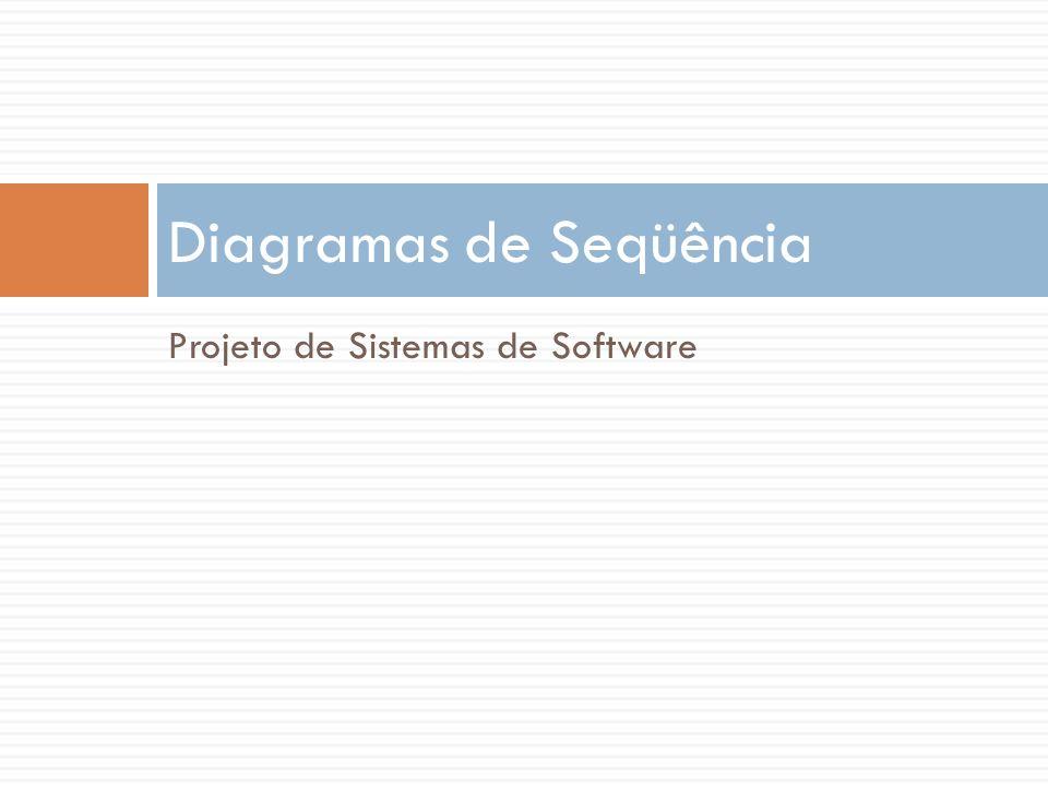 Projeto de Sistemas de Software Diagramas de Seqüência