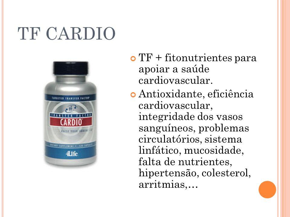 TF CARDIO TF + fitonutrientes para apoiar a saúde cardiovascular. Antioxidante, eficiência cardiovascular, integridade dos vasos sanguíneos, problemas