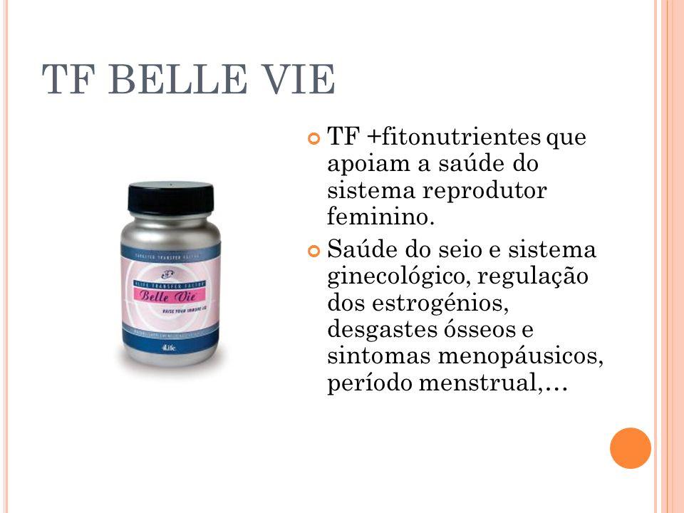 TF BELLE VIE TF +fitonutrientes que apoiam a saúde do sistema reprodutor feminino. Saúde do seio e sistema ginecológico, regulação dos estrogénios, de