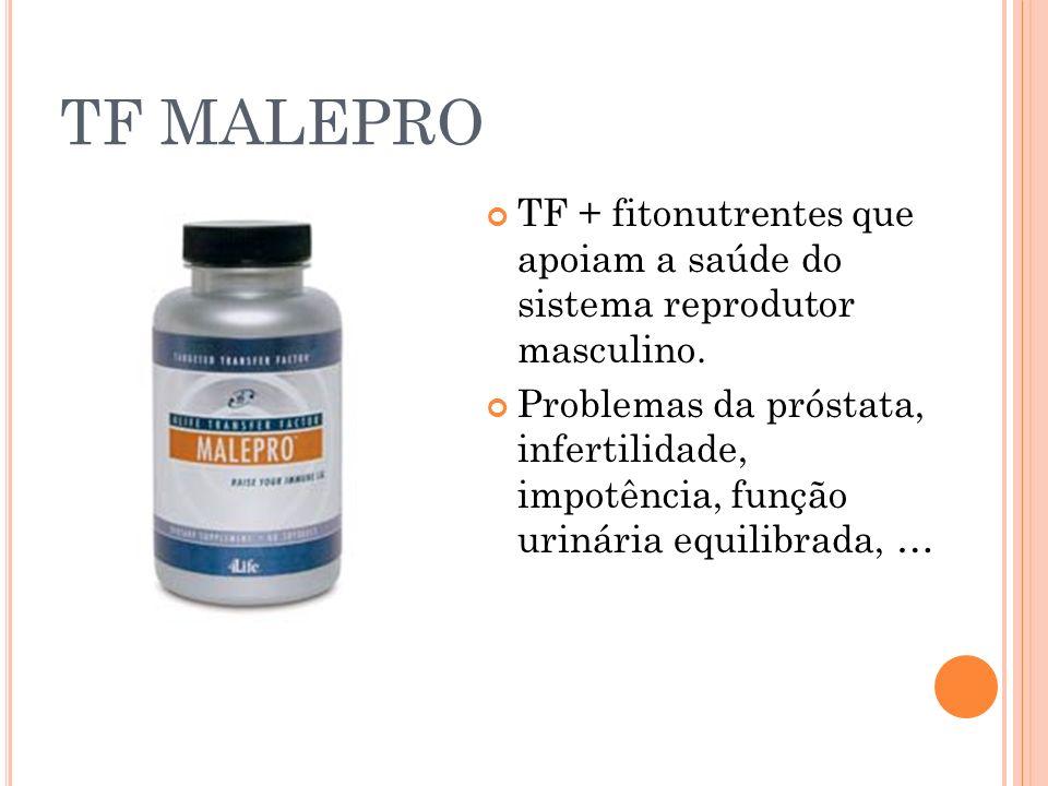 TF MALEPRO TF + fitonutrentes que apoiam a saúde do sistema reprodutor masculino. Problemas da próstata, infertilidade, impotência, função urinária eq