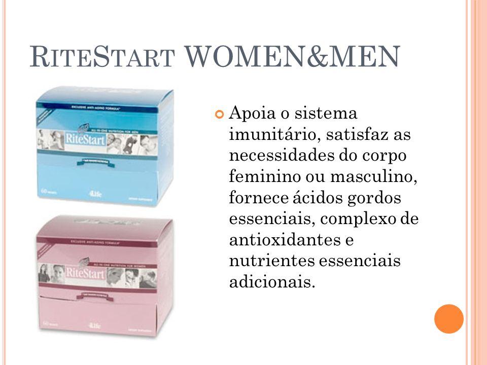 R ITE S TART WOMEN&MEN Apoia o sistema imunitário, satisfaz as necessidades do corpo feminino ou masculino, fornece ácidos gordos essenciais, complexo