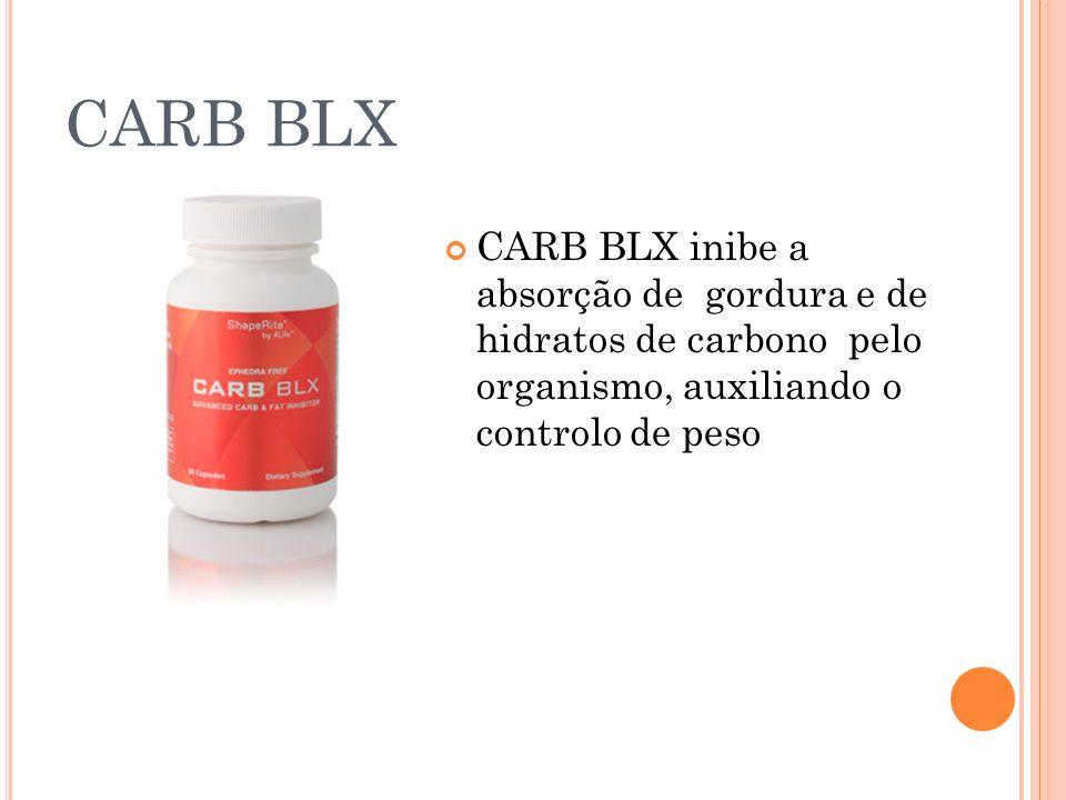 CARB BLX CARB BLX inibe a absorção de gordura e de hidratos de carbono pelo organismo, auxiliando o controlo de peso
