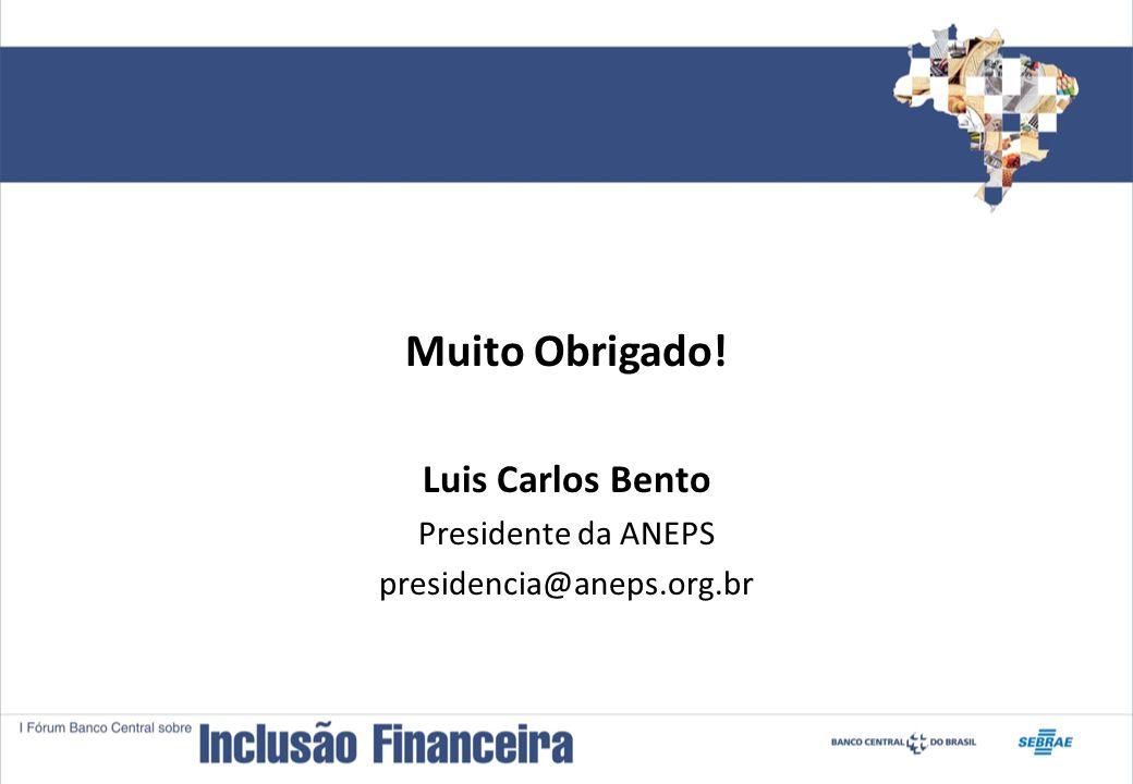 Muito Obrigado! Luis Carlos Bento Presidente da ANEPS presidencia@aneps.org.br