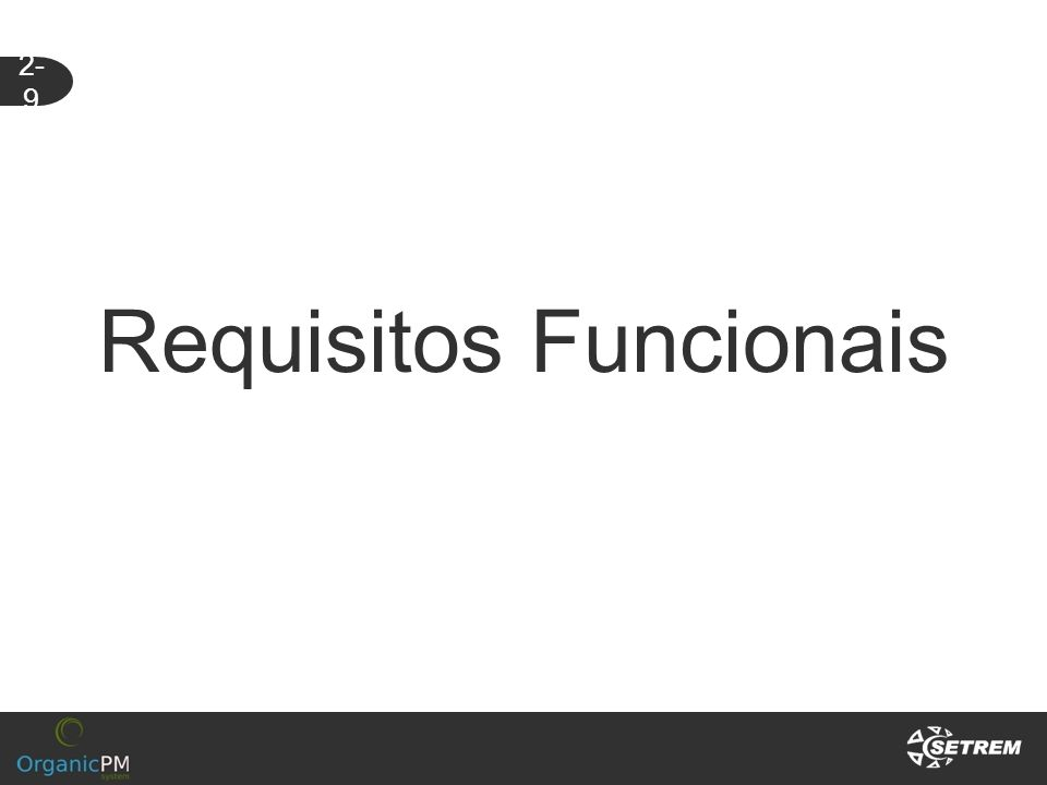 Requisitos Funcionais 2- 9