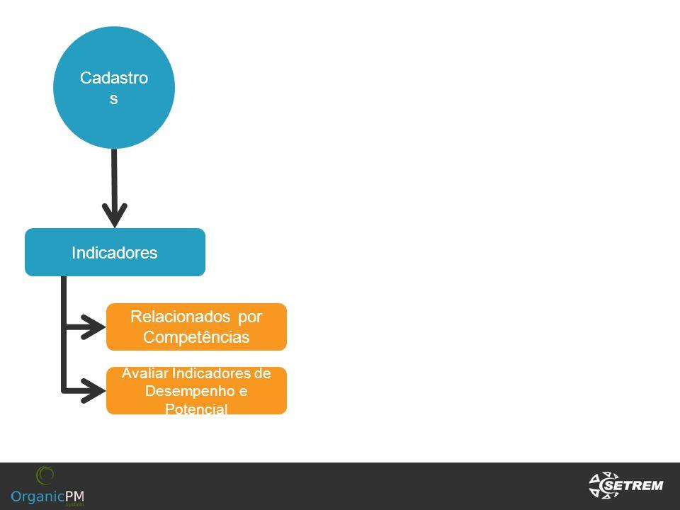 Cadastro s Indicadores Relacionados por Competências Avaliar Indicadores de Desempenho e Potencial
