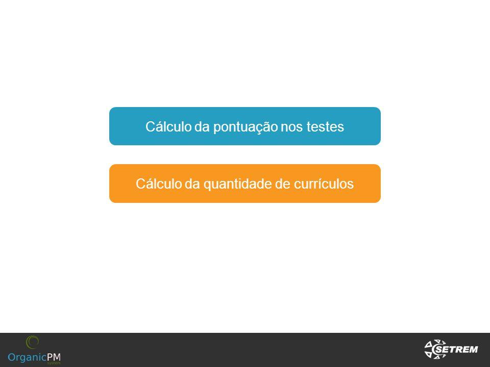 Cálculo da quantidade de currículos