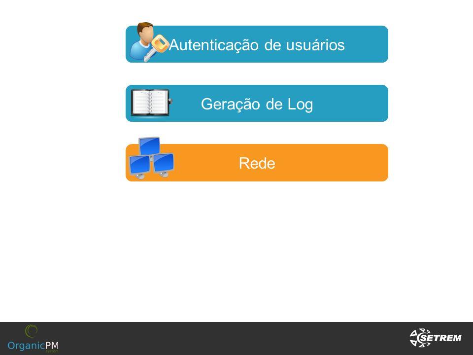 Autenticação de usuários Geração de Log Rede