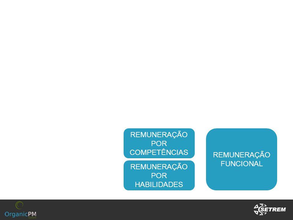 REMUNERAÇÃO POR COMPETÊNCIAS REMUNERAÇÃO FUNCIONAL REMUNERAÇÃO POR HABILIDADES