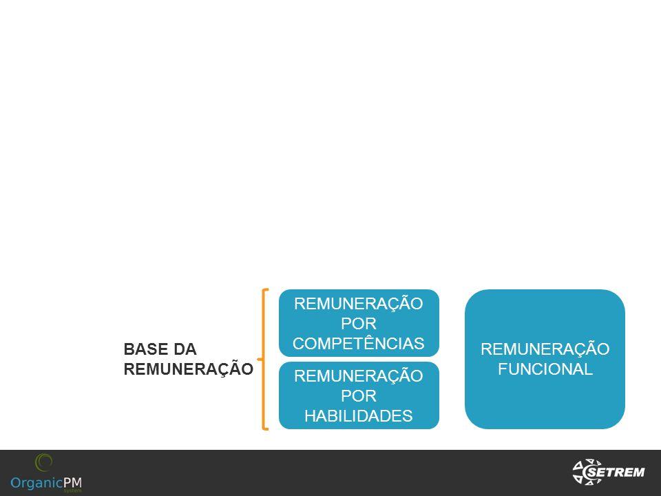 REMUNERAÇÃO POR COMPETÊNCIAS REMUNERAÇÃO FUNCIONAL REMUNERAÇÃO POR HABILIDADES BASE DA REMUNERAÇÃO