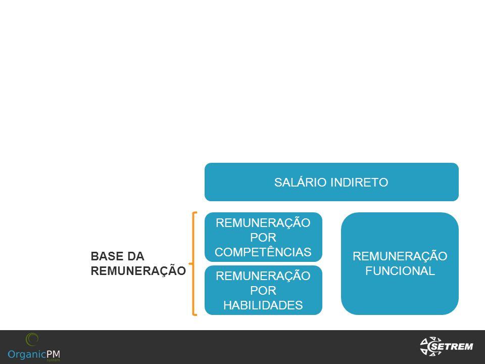 SALÁRIO INDIRETO REMUNERAÇÃO POR COMPETÊNCIAS REMUNERAÇÃO FUNCIONAL REMUNERAÇÃO POR HABILIDADES BASE DA REMUNERAÇÃO