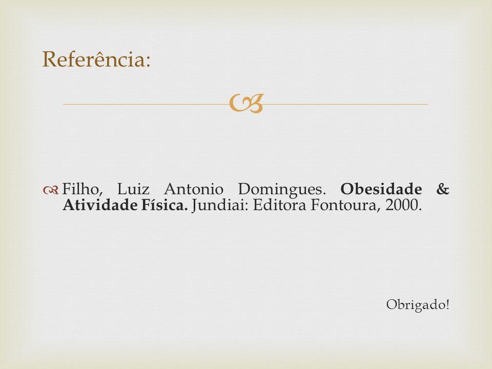 Filho, Luiz Antonio Domingues.Obesidade & Atividade Física.