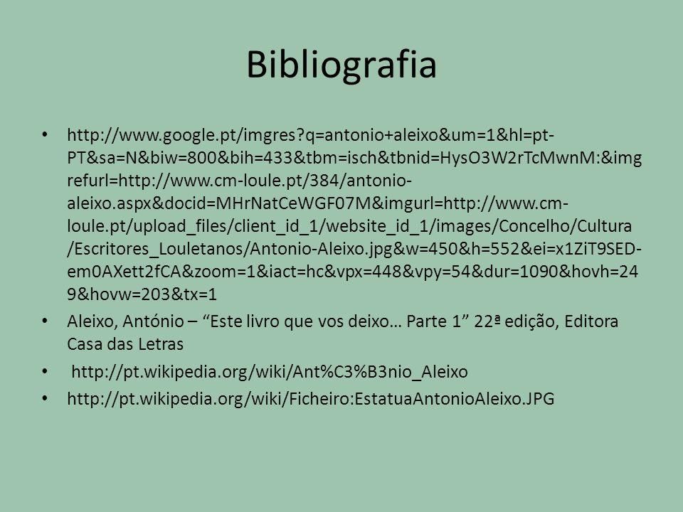 Bibliografia http://www.google.pt/imgres?q=antonio+aleixo&um=1&hl=pt- PT&sa=N&biw=800&bih=433&tbm=isch&tbnid=HysO3W2rTcMwnM:&img refurl=http://www.cm-