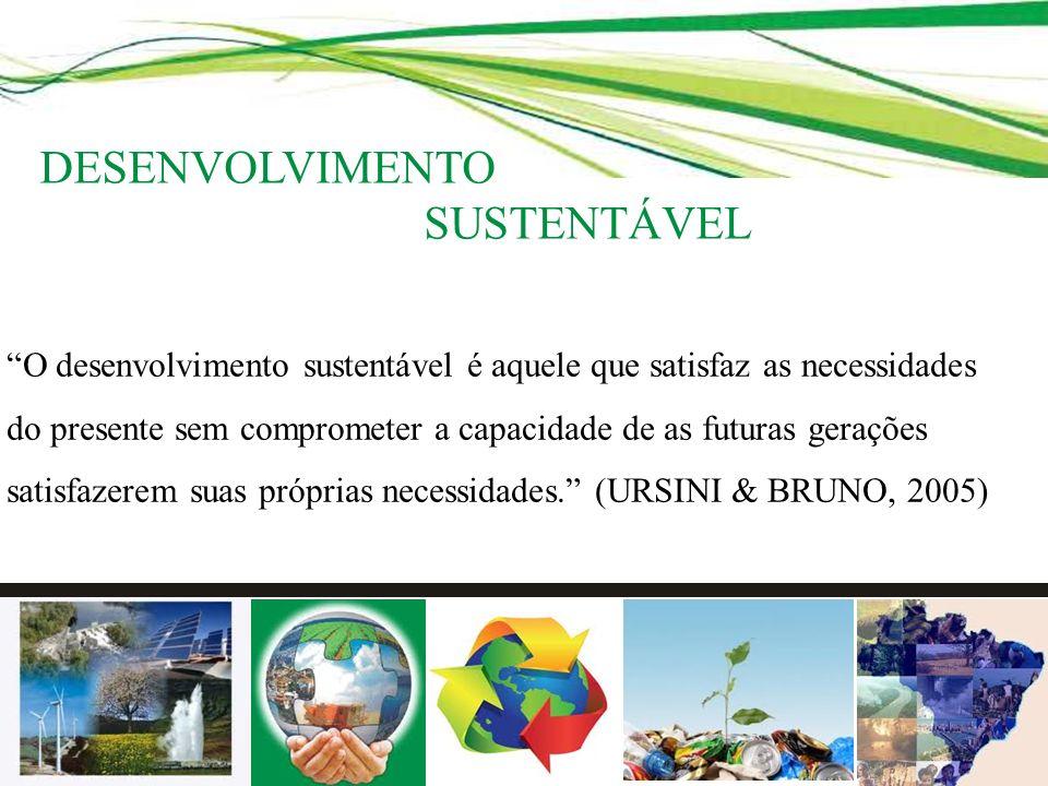 O desenvolvimento sustentável é aquele que satisfaz as necessidades do presente sem comprometer a capacidade de as futuras gerações satisfazerem suas