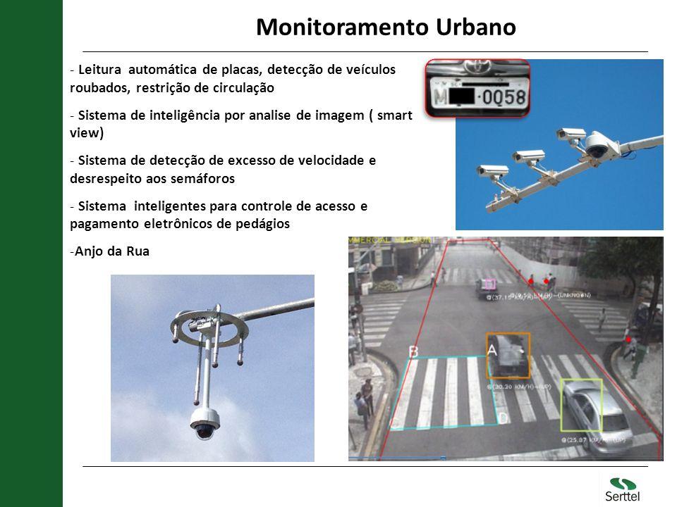 Monitoramento Urbano - Leitura automática de placas, detecção de veículos roubados, restrição de circulação - Sistema de inteligência por analise de i