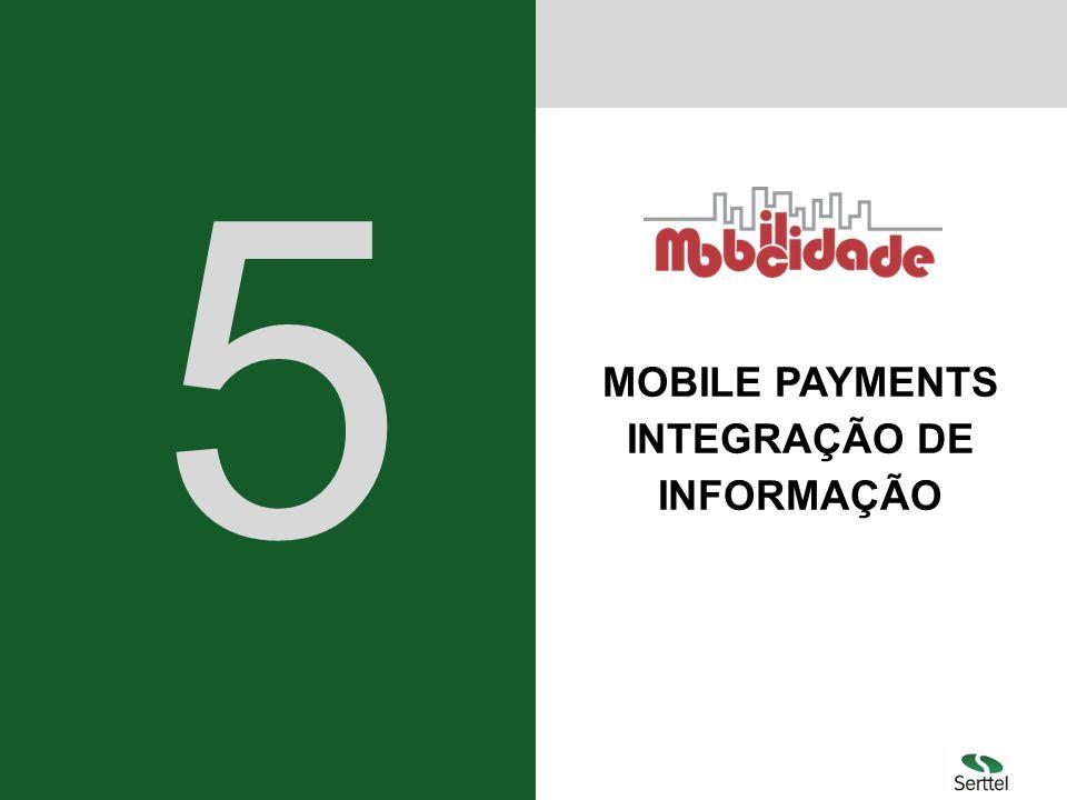 MOBILE PAYMENTS INTEGRAÇÃO DE INFORMAÇÃO 5