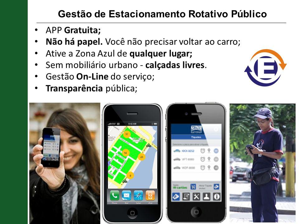 Gestão de Estacionamento Rotativo Público APP Gratuita; Não há papel. Você não precisar voltar ao carro; Ative a Zona Azul de qualquer lugar; Sem mobi