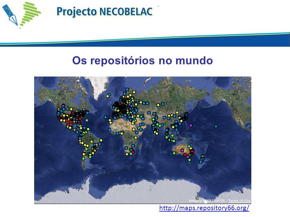 Os repositórios no mundo http://maps.repository66.org/