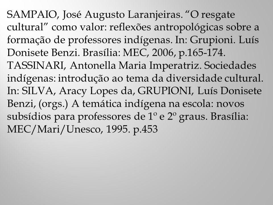 SUGESTÕES DE SITES www.funai.gov.br www.museudoindio.org.br www.socioambiental.org www.trabalhoindigenista.org.br www.scielo.br