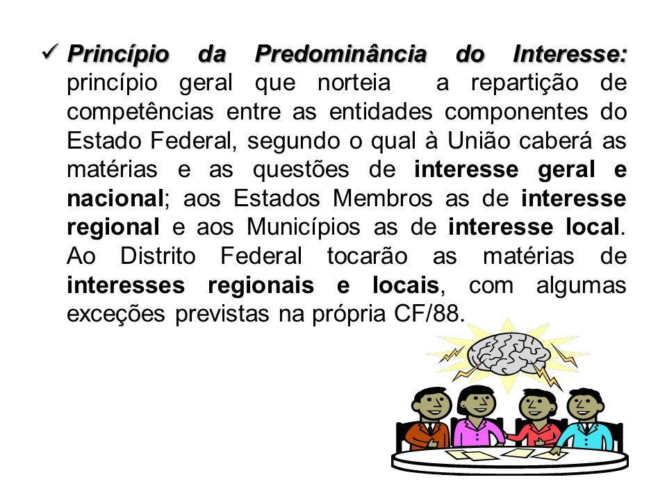 Princípio da Predominância do Interesse: Princípio da Predominância do Interesse: princípio geral que norteia a repartição de competências entre as en