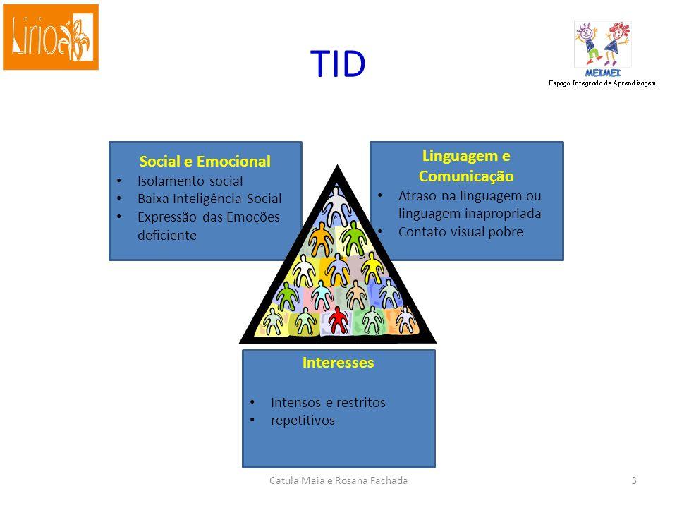 Transtornos Invasivos do Desenvolvimento - TID Síndrome de Rett Transtorno Desintegrativo da Infância Autismo Infantil Síndrome de Asperger Transtornos Invasivos do Desenvolvimento sem outra especificação Catula Maia e Rosana Fachada2