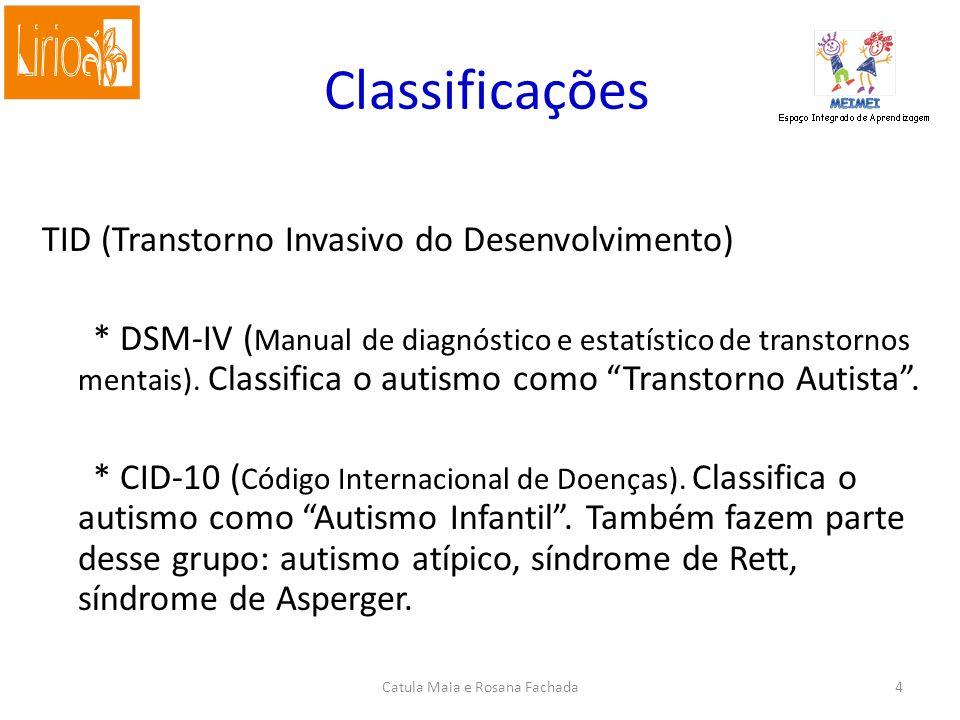 Classificações TID (Transtorno Invasivo do Desenvolvimento) * DSM-IV ( Manual de diagnóstico e estatístico de transtornos mentais).