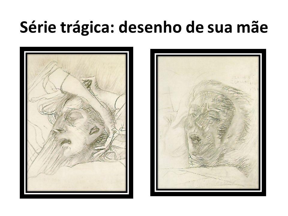 Série trágica: desenho de sua mãe