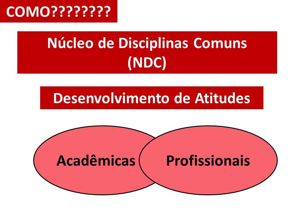 COMO???????? Núcleo de Disciplinas Comuns (NDC) Desenvolvimento de Atitudes AcadêmicasProfissionais