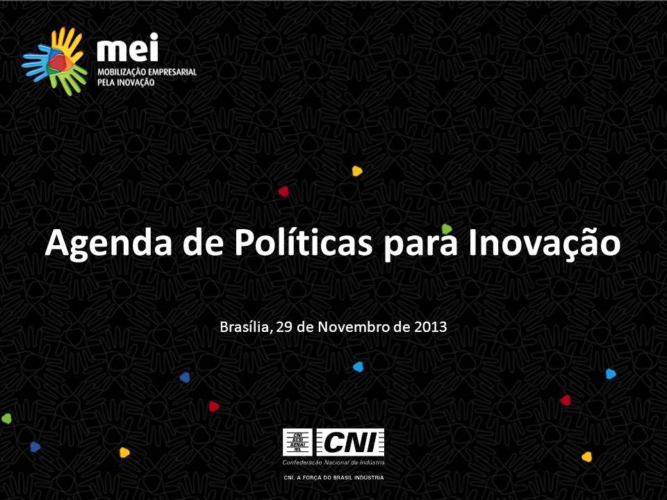 Brasília, 29 de Novembro de 2013 Agenda de Políticas para Inovação